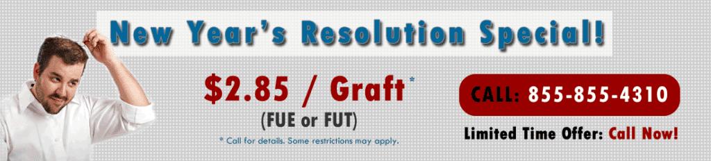 Hair Transplants in Florida for $2.85 per graft