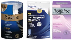 Rogaine Minoxidil hair growth treatment
